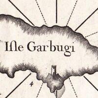 Carte Géographique XVIIIe  Gramvoussa Crète Γραμβούσα Gramvousa Candie 1764