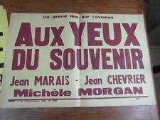 (AFFICHE) BANDEAU TEXTE CINEMA : AUX YEUX DU SOUVENIR (1948) JEAN MARAIS MORGAN