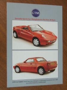 c2000 GTM K3 Rossa Kit Car original UK 4 page brochure