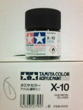 Tamiya acrylic paint X10 Gun metal. 10ml Mini.