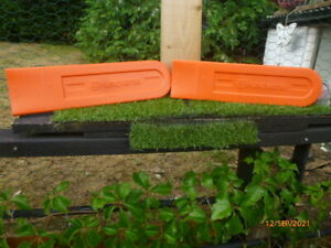 NEW :  PAIR of HUSQVARNA : CHAINSAW BLADE COVERS : only £2.99
