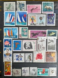 Poland stamp collection used as scan.