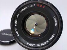 Canon FD FD 100mm f/2.8 (EXC+++++)