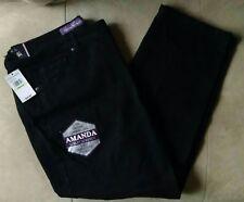 "Gloria Vanderbilt Amanda Jeans Size 18W Short 40"" x 29""  Embellished Pockets NWT"