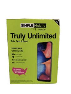 NEW - Simple Mobile Prepaid Samsung Galaxy A20 32GB, 4G LTE GSM , Black - SEALED