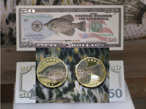 Crappie Coin Bill Tines Hunting Skulls Fishing Antler Mounts Fish Chews Buttons