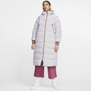 Nike NSW City Ready Down Fill Long Puffer Parka Jacket Winter Coat Small UK 8-10