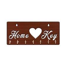 Wall Mounted Home Wooden Key Holder Hook Hooks Wall Décor Keys Holder