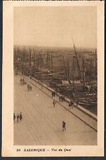 FRENCH POSTCARD Thessaloniki  A View of the Port c1915 - perf