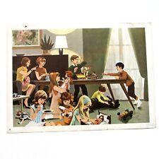 Ancienne grande affiche scolaire Fernand Nathan 1967 - vie quotidienne n°3 -