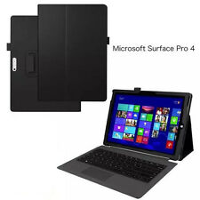 "Flip Cover Folio Stand Leather Case fr 12.3"" Microsoft Surface Pro 4 pro4 tablet"