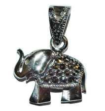 Sterling Silver & Marcasite Small Elephant Pendant