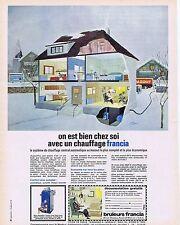 PUBLICITE ADVERTISING 114 1964 FRANCIA chauffage au mazout