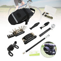 22 in 1Bike Cycle Bicycle MTB Tool Puncture Repair Kit With Pump Set Carry Case