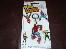 Vintage Spider-Man Iron Fist Key Chain Hawkeye Marvel Avengers Rare NEW MOC 1979