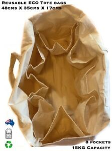 Jumbo Heavy Duty Reusable Canvas Shopping Bag Eco Friendly Grocery Cotton Totes