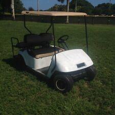 white ezgo ez-go 36v txt 4 seat Passenger golf cart cart