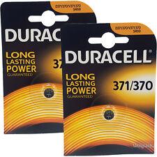 2 x Duracell 370 371 D371 SR69 SR920SW Silver Oxide Watch Batteries