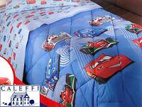 Trapunta invernale. Disney CALEFFI. CARS TEAM 95. Singolo, 1 piazza. Azzurro.