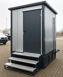 WC- Toilettenkabine Sanitärcontainer Toilette WC-Kabine Fäkalientank Treppe Tank