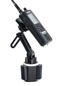 Adjustable Height Cup Holder Mount For Uniden SDS100 and BCD436HP Scanner