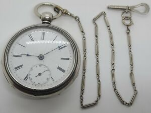Antique Working 19th C. NEW ENGLAND WATCH CO. Coin Silver Key Wind Pocket Watch