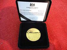 Olympics 2012 24K Gold Plated Commemorative Medallion in Presentation Box.