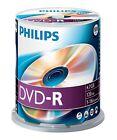 Philips DVD-R 120 Minuti 4,7GB 16x velocità Registrabile Vuoti Dischetti 100 pz.