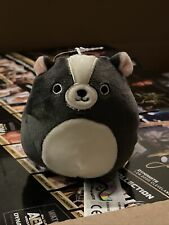 Squishmallow Kellytoy 3.5 Inch Skyler The Skunk Plush toy clip on NWT