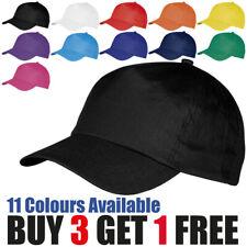 Baseball Cap Mens Womens Adjustable Plain Adults Summer Classic Sports Sun Hat