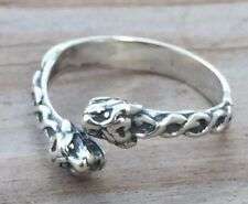 Celtic Lion Ring .925 Sterling Silver Adj. sz 6 - 9 Goddess Ishtar Lion