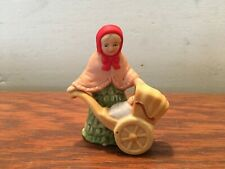 1986 Lefton Mrs. Eberhardt Colonial Christmas Village #05827 Woman Baby Carriage