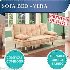 SOLD OUT --- Premium quality Micro Fabric Beige Sofa Bed Lounge - VERA