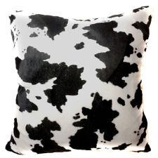 Ff01a Faux Fur Black Milk Cow Skin Print Cushion Cover/Pillow Case*Custom Size*