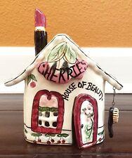 "Blue Sky Clayworks Cherries House Of Beauty Salon Tea Light 6"" Heather Goldminc"