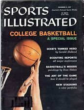 Sports Illustrated 12-9-57 College Basketball Cover, Excellent Condition!
