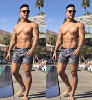 Men Swim Shorts Swimwear Swimming Trunks Underwear Running Boxer Briefs Pants
