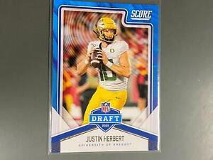 Justin Herbert 2020 Score NFL Draft Rookie Card RC Oregon Chargers C21