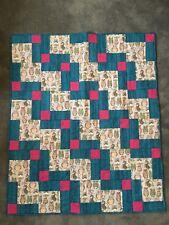Handmade Baby Quilt - new, Girl, Owls, blanket,