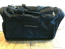 NEW Lehman Brothers Embroidered Neotec Black Duffel Gym Suitcase Weekender Bag