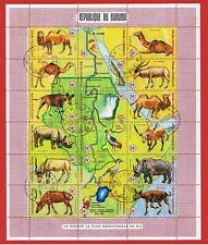 Burundi #C127  VF used  Sheet of 16  Animals and Map