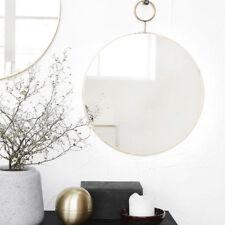 House Doctor Spiegel rund Wandspiegel Industrie Design nordic 32cm messing