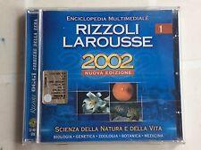 ENCICLOPEDIA MULTIMEDIALE RIZZOLI LAROUSSE nr 1 2002 NUOVA EDIZIONE CD-ROM  PC