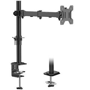 Single Monitor Arm Desk Mount Bracket for 13-32 inch LCD LED Screens Tilt Swivel