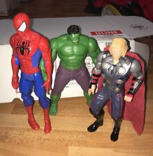 SPIDER-MAN THOR HULK ACTION FIGURE LOT OF 3 Marvel Super Hero Comic