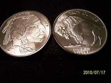 *****INDIAN HEAD/BUFFALO****1ozt PURE SILVER ART ROUND