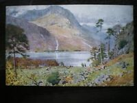POSTCARD HEAD OF BUTTERMERE WATER COLOUR CUMBERLAND/ WESTMORLAND