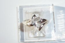 Natural Sparkly! Topaz 7mm Trillion 1ct USA Made Sterling Silver Ring sz. 8.25