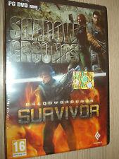 2 SPIELE PC DVD-ROM SCHATTEN GARTEN + SURVIVOR VERSIEGELT NEU