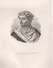 Boccaccio Giovanni, 1857 acquaforte